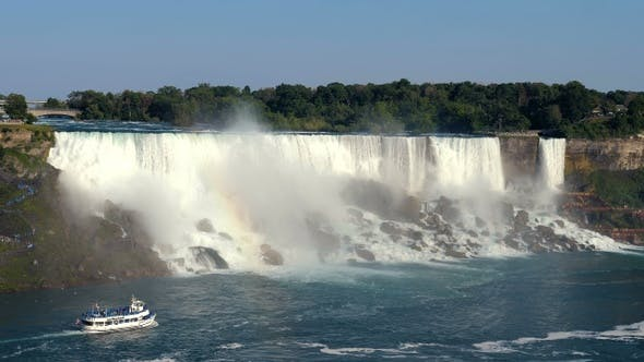 Thumbnail for Niagara Falls Hornblower Tour Boat under Horseshoe Waterfall