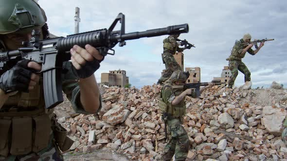 Cover Image for Military Squad Training in Abandoned Area