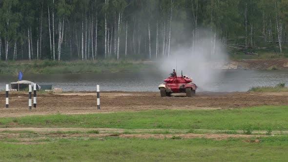 War. Tank attack