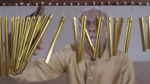 chimes percussion indian music performer art beats