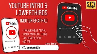 Youtube Intro and Lowerthird (4K)