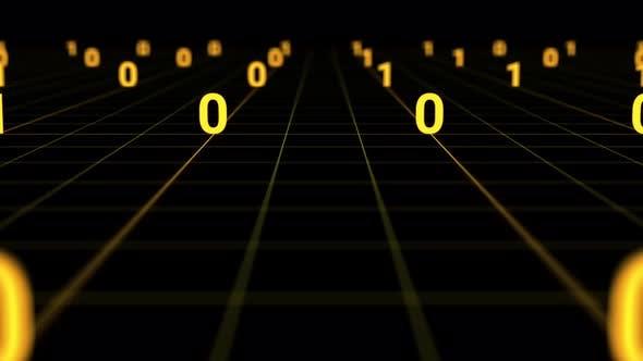 Thumbnail for BinärCode und Matrixdaten leuchteten im Dunkeln