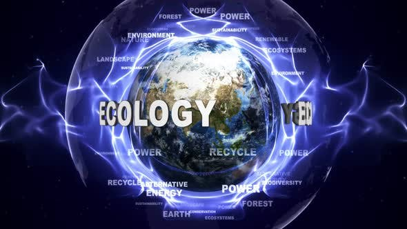 Thumbnail for Ecology Text Around Earth, Loopable