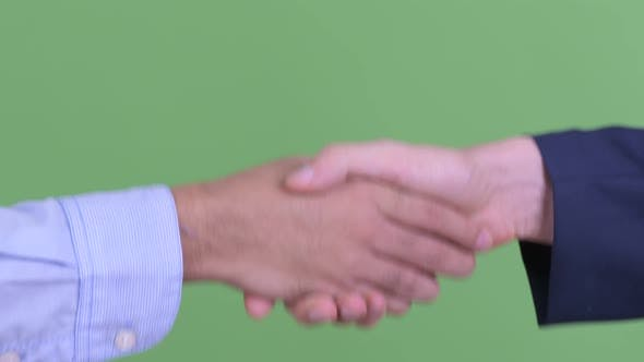 Thumbnail for Hands of Two Multi Ethnic Businessmen Shaking Hands Together