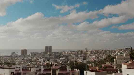 Thumbnail for Timelapse. City of Santa Cruz De Tenerife. The Capital of the Canary Islands in Spain. A City