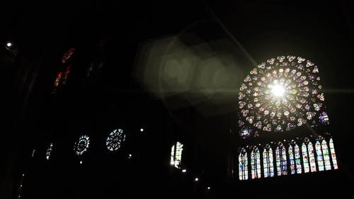 Rose Window Notre-Dame, Paris, Just Before the Fire.