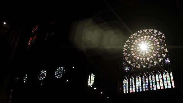 Thumbnail for Rose Window of the Catholic Cathedral of Notre-Dame de Paris.
