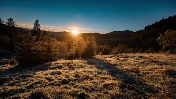 Thumbnail for Golden Sunrise on Winter Hills