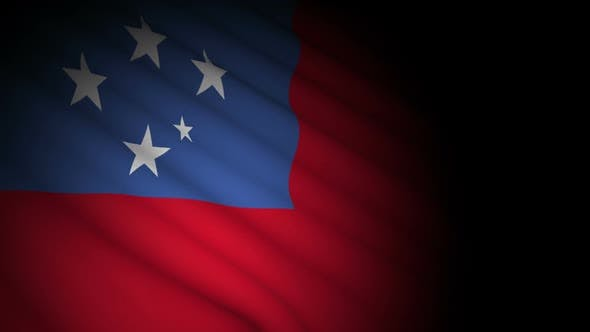 Cover Image for Samoa Flag Blowing in Wind