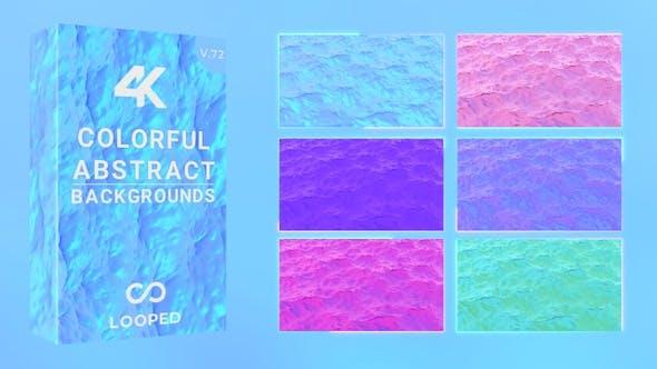 Colorful Churning Liquid Backgrounds