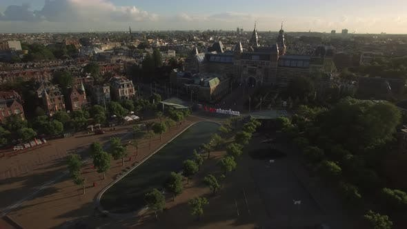 Thumbnail for Amsterdam Aerial View with Rijksmuseum