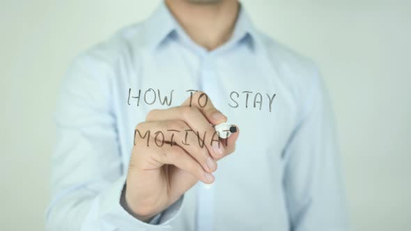 Thumbnail for How To Stay Motivated, Writing On Screen