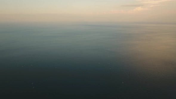Thumbnail for Water Surface Aerial View at sunset.Bali
