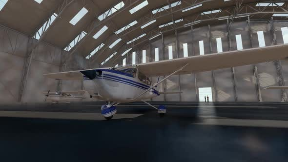 Thumbnail for Airplane Standing in Hangar