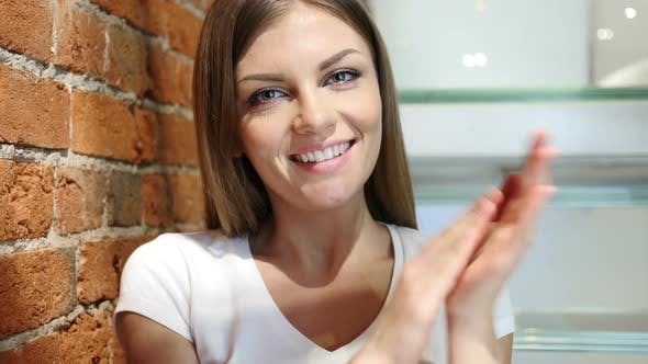 Applause, Clapping Woman for Success of Team