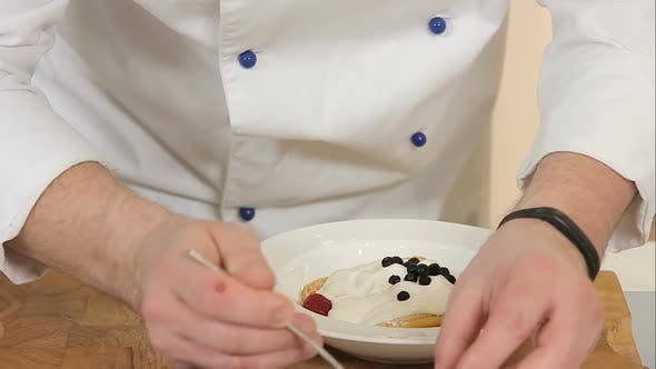 Thumbnail for Serving Biscuit Dessert with Berries
