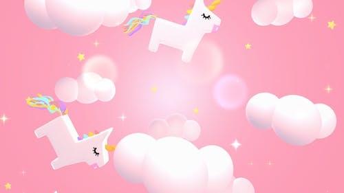 Kawaii Unicorn Sky