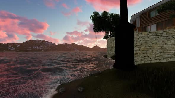 Thumbnail for Sunset over the mountains