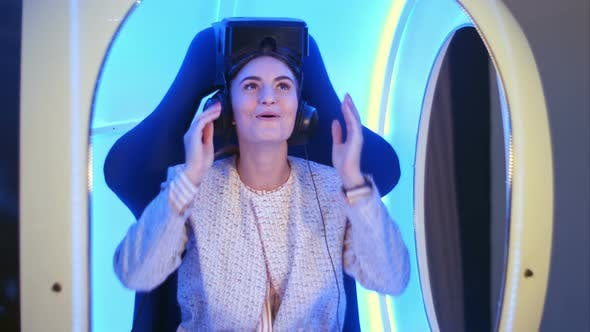 Thumbnail for Amazed Young Woman Left Speechless After Virtual Reality Session