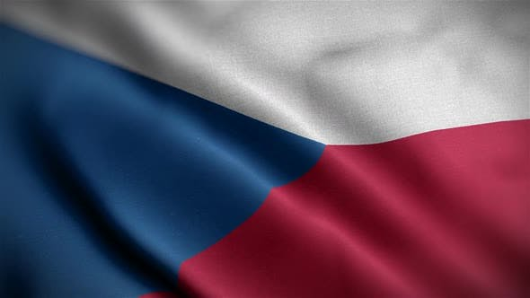 Thumbnail for Czech Republic Flag Closeup Blowing In Wind