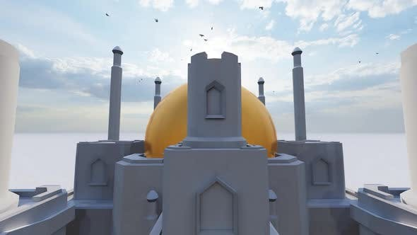 Thumbnail for Mosque and Gold Calligraphy Allah