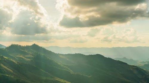 Mountain With Sun Rays