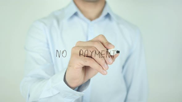 Thumbnail for No Payments, Writing On Screen
