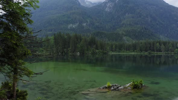Thumbnail for Aerial View of Beautiful Hintersee Lake on Evening. Ramsau, Berchtesgaden, Bavaria, Germany, Europe