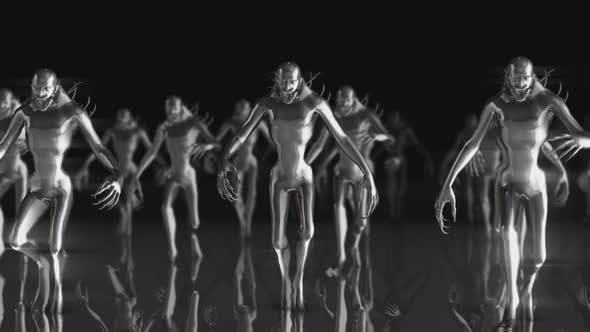 4K metal walking monsters