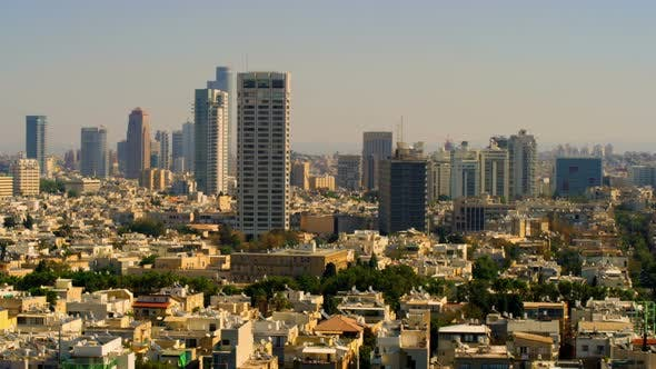 Thumbnail for A Panoramic Tel Aviv Skyline In Israel