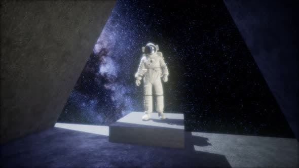 Thumbnail for Astronaut on Space Base in Deep Space