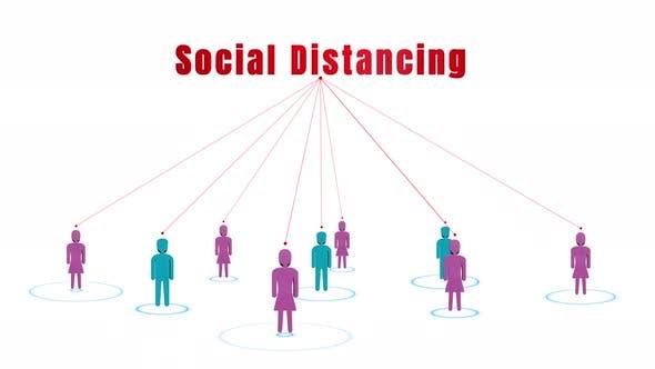 Konzept der sozialen Distanzierung 00763