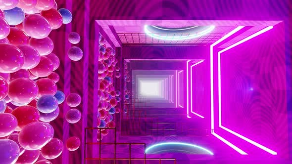 Thumbnail for In The Room Color With Geometric Tunnel 02 4K
