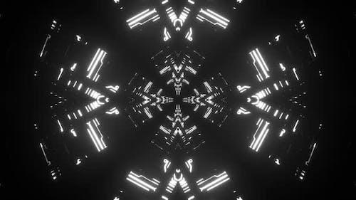 4k Black Cybernetic Vj Loop 2