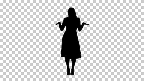 Silhouette  lady dancing , Alpha Channel