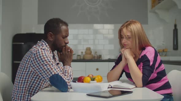 Thumbnail for Upset Multiracial Family Facing Financial Problems