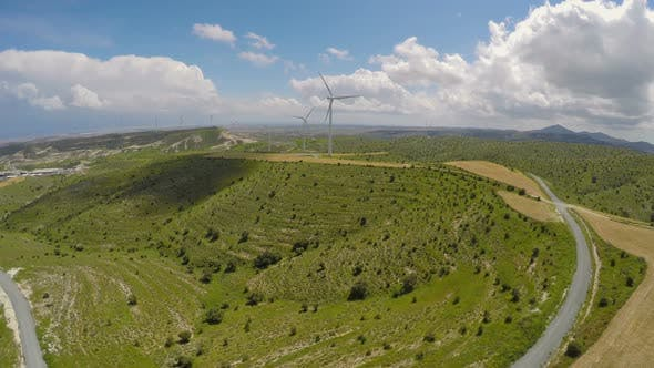 Thumbnail for Contemporary Wind Power Plant in Mountains, Eco-Friendly Power Generation