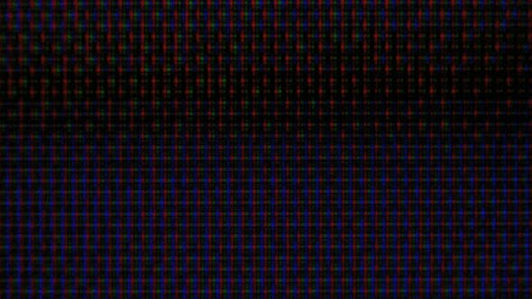 Thumbnail for RGB Pixels on the TV During the Screening of the Film, Macro, Close-up