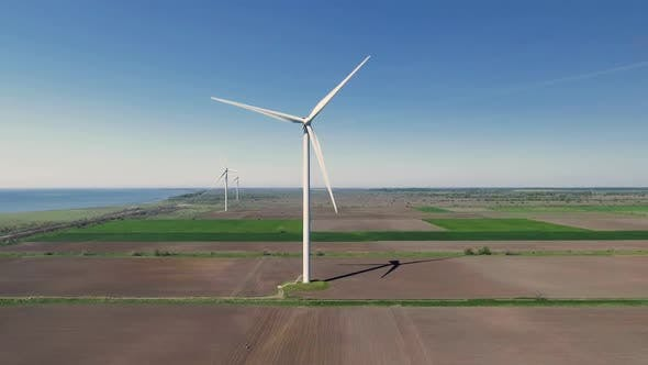Thumbnail for Aerial View of Wind Turbines Energy Production