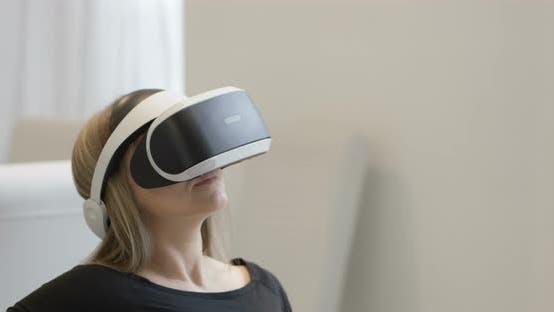 Thumbnail for Woman Wearing VR Set