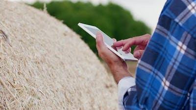 Farmer using Ipad