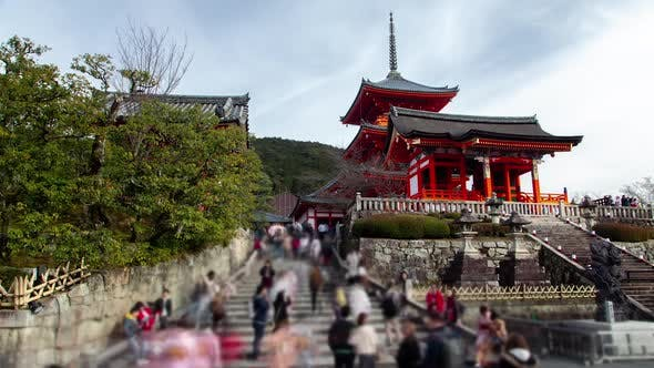 Thumbnail for People at Kiyomizudera Temple Complex Timelapse