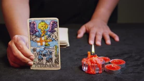 Thumbnail for Tarot Reader Dealing Cards 11b