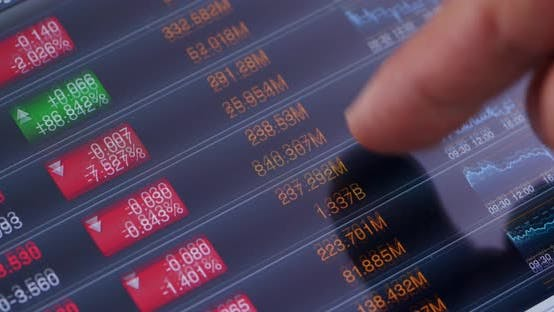 Thumbnail for Use of digital tablet computer for stock market data