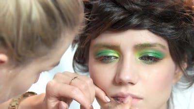 Makeup Artist Working.