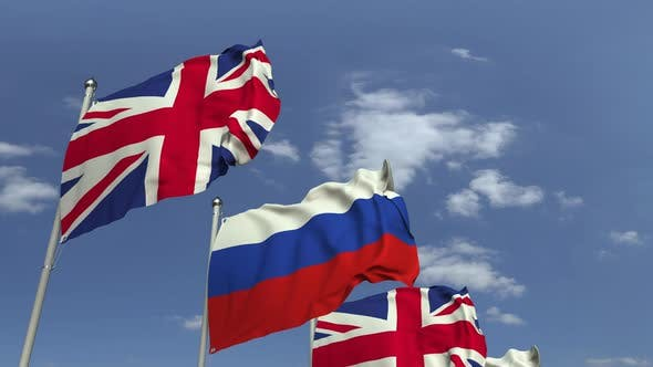 Flags of Russia and the United Kingdom