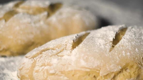 Warm Fresh Baguette in a Bakery