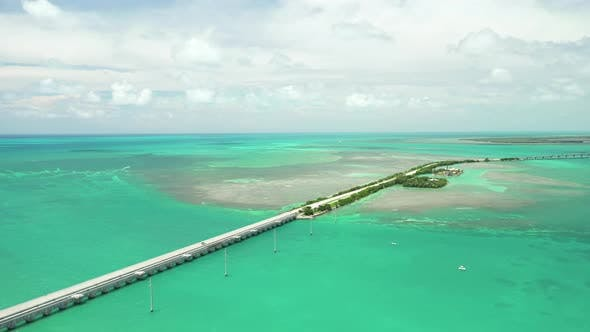 Thumbnail for Aerial video Overseas Highway in the Florida Keys