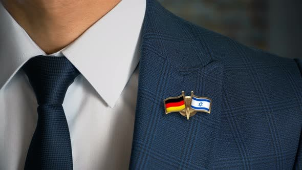 Thumbnail for Businessman Friend Flags Pin Germany Israel