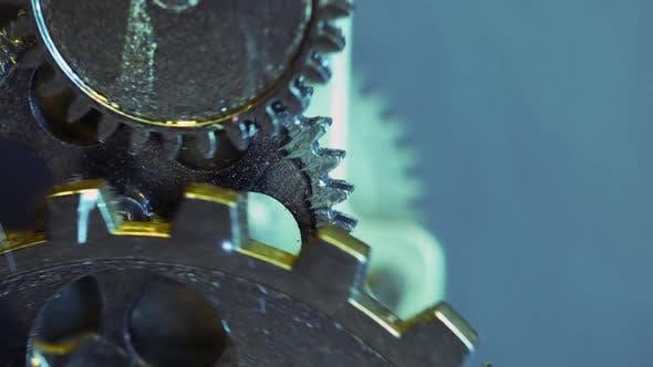 Thumbnail for Retro Rusty Mechanic Clock Gears 12
